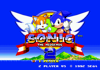 Genesis / 32x / scd sonic the hedgehog 2 title screen the.