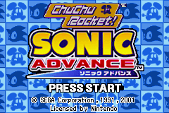 2 Games in 1:Sonic Advance & ChuChu Rocket!