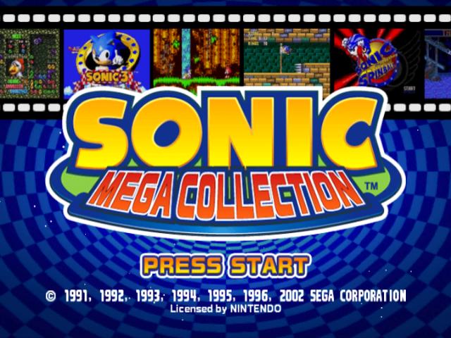 Sonic Mega Collection Sonic Retro