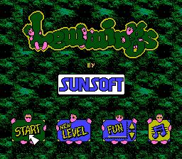 Lemmings NES Title.png