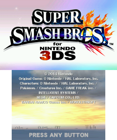 File:Super Smash Bros 3DS title screen.png