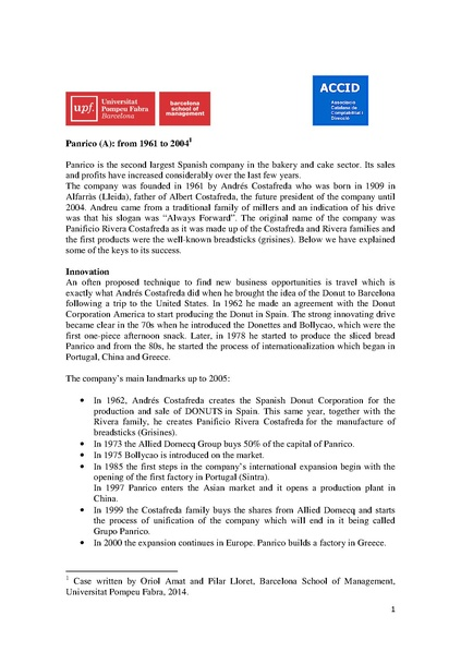 File:History of Panrico (from 1961 to 2004) by Universitat Pompeu Fabra (Barcelona).pdf