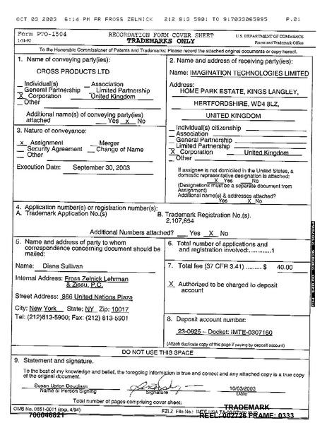 File:Trademark CodeScape Reg Nº 2107854 Assignment Document 2003-10-03.pdf