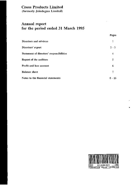 File:Cross Products Limited Annual Report (for the period ended 31 March 1995) 1995-06-16.pdf