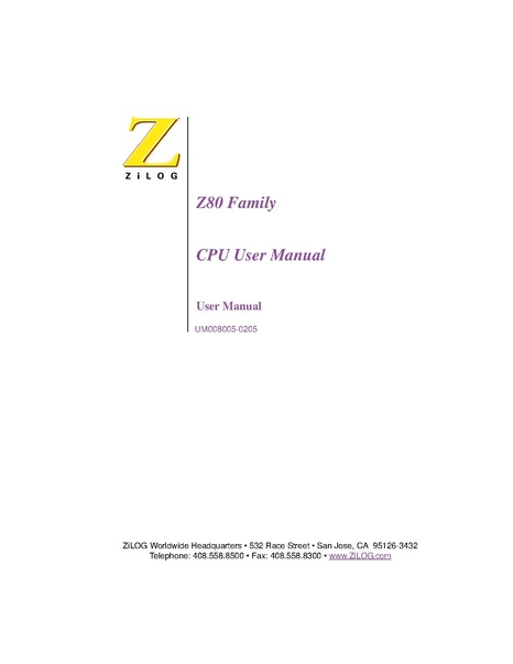 File:Zilog Z80 Programmer's Reference Manual.pdf